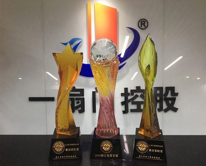 一扇门荣膺浙江省电商百强企业、最佳服务团队、最佳奉献奖